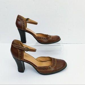Miss Bisou Vintage Block Heel Shoes Size 8.5